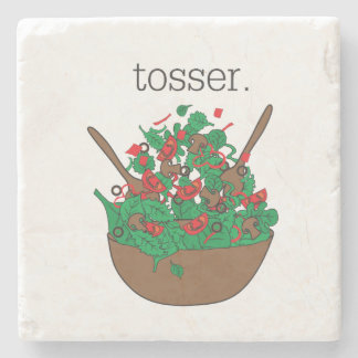 tosser. (salad) stone beverage coaster