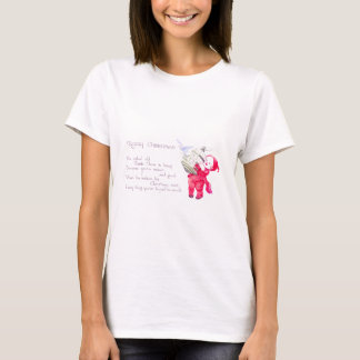 Tot Frees Bird From Cage Vintage Christmas Card T-Shirt
