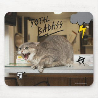 Total Badass Cat Mouse Mat