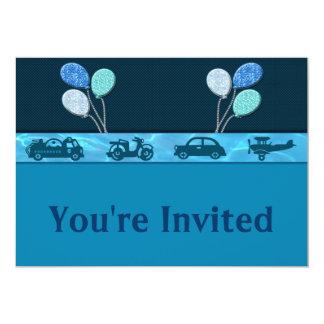 Total Birthday Boy In Blue Invitation