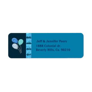 Total Birthday Boy In Blue Return Address Label