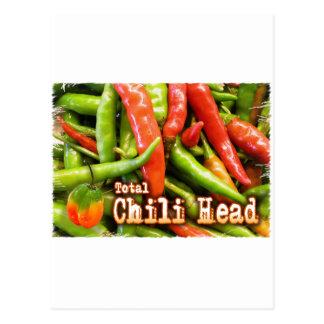 Total Chile Head Postcard