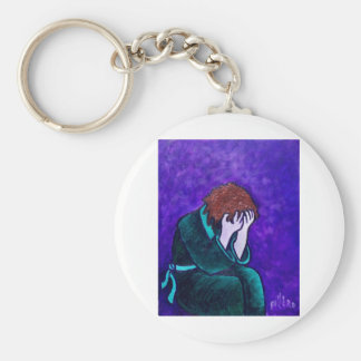 Total Darkness Basic Round Button Key Ring