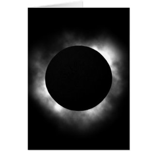 Total eclipse greeting card