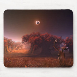 Total Eclipse In Red Mouse Pad
