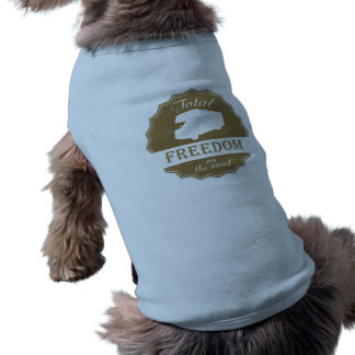 Total Freedom on the Road retro Class C RV Sleeveless Dog Shirt