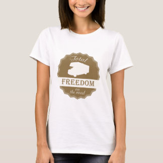 Total Freedom on the Road retro pin. T-Shirt