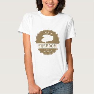 Total Freedom on the Road retro pin. Tees