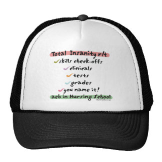 Total Insanity related to Nursing School Hat