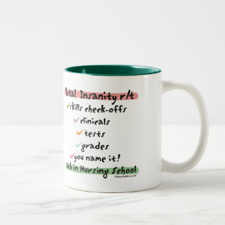 Total Insanity related to Nursing School Mug
