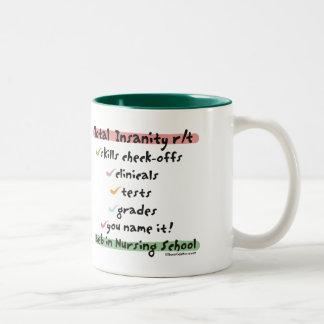 Total Insanity related to Nursing School Mug