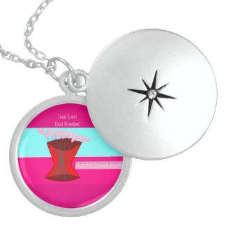 total love round locket necklace