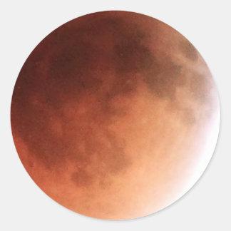 Total Lunar Eclipse (14) 1:07am April 15, 2014 Round Sticker
