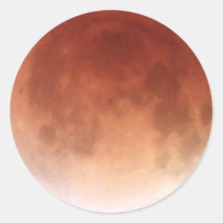 Total Lunar Eclipse (16) 1:31am April 15, 2014 Round Sticker