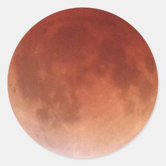 Total Lunar Eclipse (18) 1:49am April 15, 2014 Round Sticker