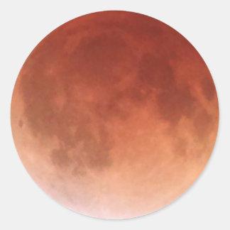 Total Lunar Eclipse (19) 1:51am April 15, 2014 Round Sticker