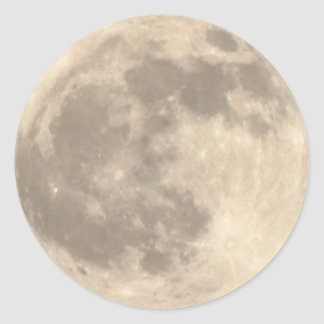 Total Lunar Eclipse (1) 11:09pm April 14, 2014 Round Sticker
