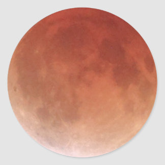 Total Lunar Eclipse (20) 1:52am April 15, 2014 Round Sticker