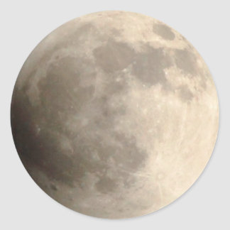 Total Lunar Eclipse (2) 11:55pm April 14, 2014 Round Sticker