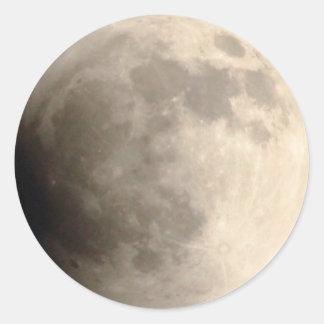 Total Lunar Eclipse (3) 12am April 15, 2014 Classic Round Sticker