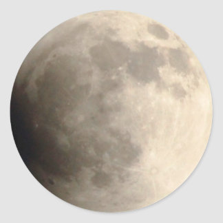 Total Lunar Eclipse (3) 12am April 15, 2014 Round Sticker
