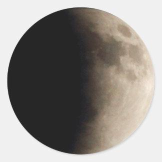 Total Lunar Eclipse (7) 12:31am April 15, 2014 Round Sticker