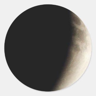 Total Lunar Eclipse (9) 12:49am April 15, 2014 Round Sticker