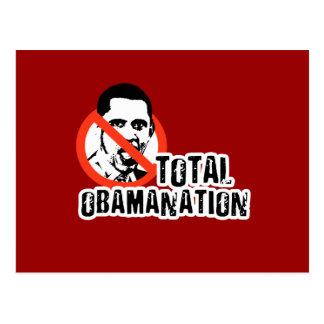 TOTAL OBAMANATION POSTCARD