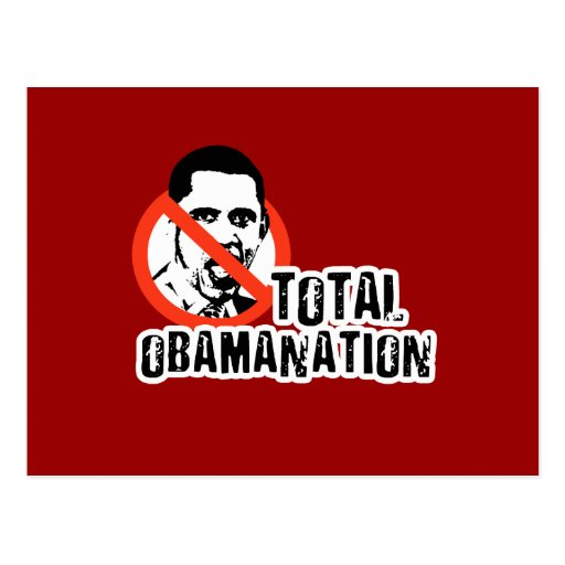 TOTAL OBAMANATION POSTCARD