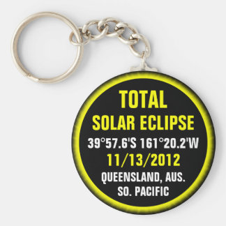 Total Solar Eclipse 11/13/2012 Basic Round Button Key Ring