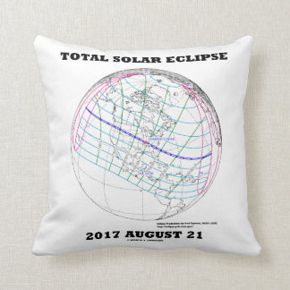 Total Solar Eclipse 2017 August 21 North America Cushion