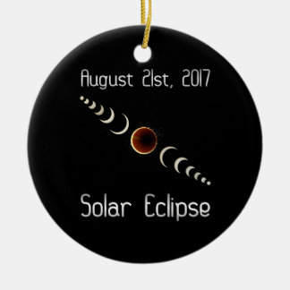Total Solar Eclipse 2017 Christmas Ornament