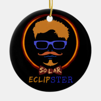 Total Solar Eclipse 2017 Funny Hipster Custom Text Christmas Ornament