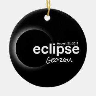 Total Solar Eclipse 2017 - Georgia Christmas Ornament