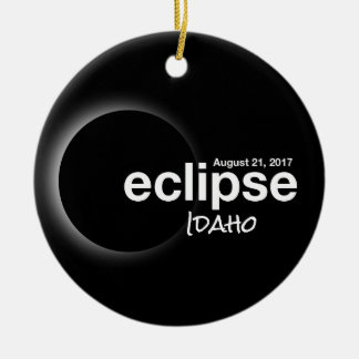 Total Solar Eclipse 2017 - Idaho Christmas Ornament