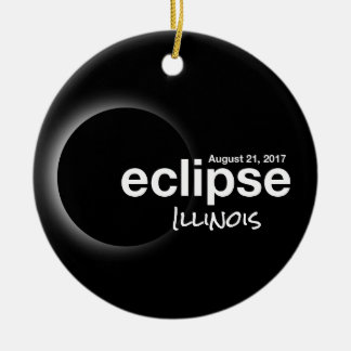 Total Solar Eclipse 2017 - Illinois Christmas Ornament
