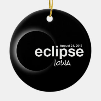 Total Solar Eclipse 2017 - Iowa Christmas Ornament