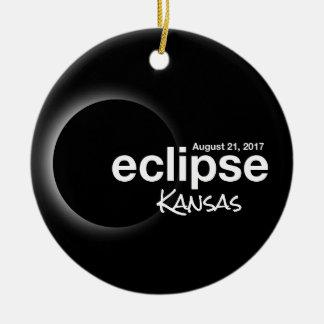 Total Solar Eclipse 2017 - Kansas Christmas Ornament