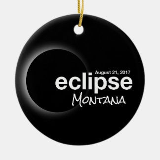 Total Solar Eclipse 2017 - Montana Christmas Ornament