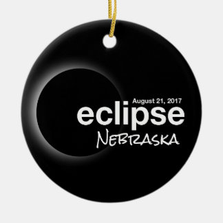 Total Solar Eclipse 2017 - Nebraska Christmas Ornament