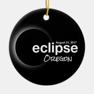 Total Solar Eclipse 2017 - Oregon Christmas Ornament