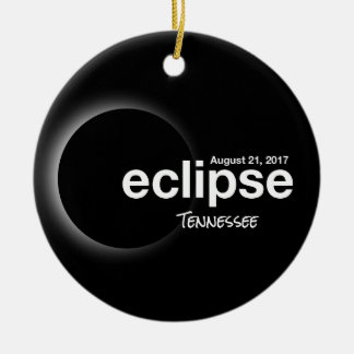 Total Solar Eclipse 2017 - Tennessee Christmas Ornament