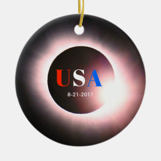 Total Solar Eclipse 2017 - USA Christmas Ornament