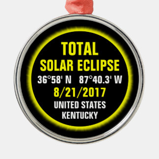 Total Solar Eclipse 8/21/2017 Christmas Ornament