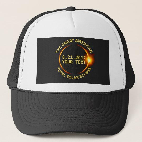 Total Solar Eclipse 8.21.2017 USA Custom Text Cap