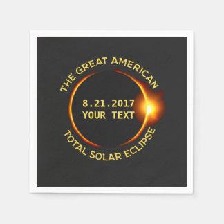 Total Solar Eclipse 8.21.2017 USA Custom Text Disposable Serviettes