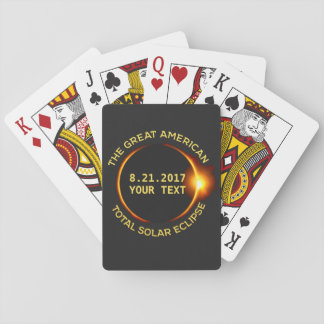 Total Solar Eclipse 8.21.2017 USA Custom Text Poker Deck