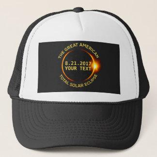 Total Solar Eclipse 8.21.2017 USA Custom Text Trucker Hat