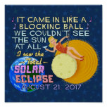 Total Solar Eclipse August 21 2017 American Funny Poster