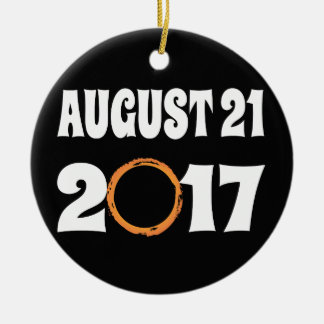 Total Solar Eclipse August 21 2017 Christmas Ornament